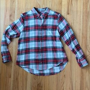 Abercrombie & Fitch green, red, white flannel